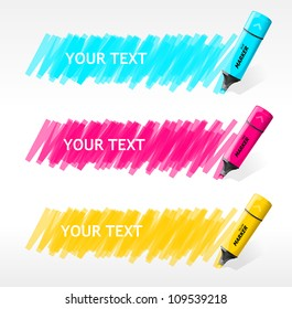Vector markers text box