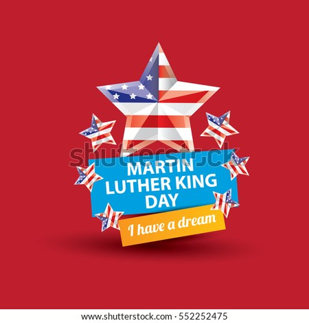 Vector Martin Luther King Jr Day Stock Vector Royalty Free