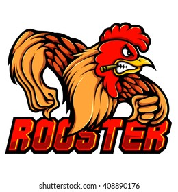Vector Mascot Illustration of Smoking Rooster