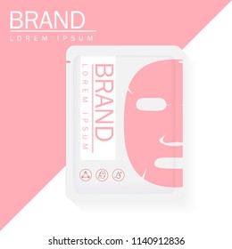 Vector mask face moisturizing 3D Packaging Design for Face Mask