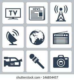 Vector mass media icons set