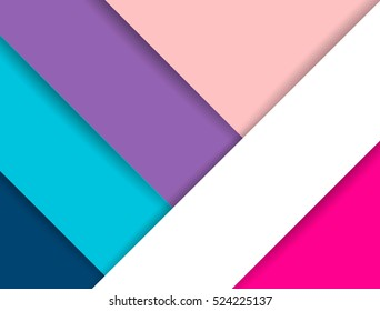 Vector material design background. Abstract creative concept layout template. For web and mobile app, paper art illustration.