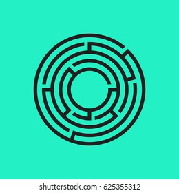 vector maze for kids on retro blue background design