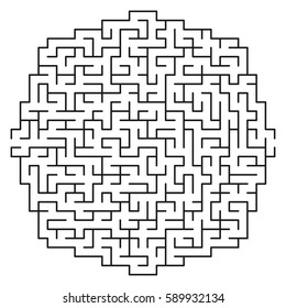 Vector Maze / labyrinth with entry and exit.