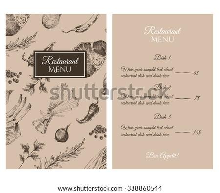 vector meat steak sketch drawing menu stock vector royalty free