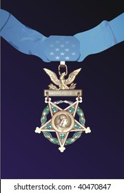 Vector medal of honor, vector illustration