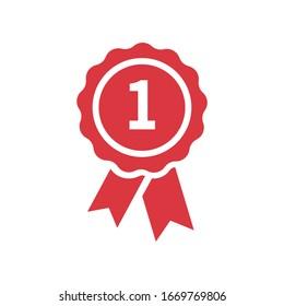 Vector medal icon. Certified Emblem Badge Emblem Symbol