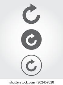 Vector media 'refresh' icon set