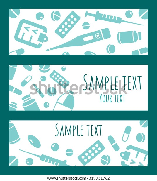 Vector medical banners set