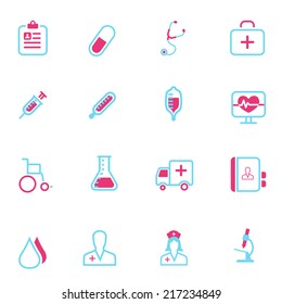 Vector medical and health line icons