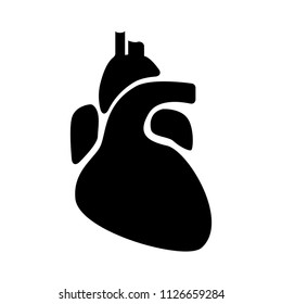vector medical heart illustration symbol. organ anatomy, health biology isolated