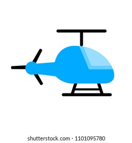 vector medical helicopter illustration, transport emergency - help icon