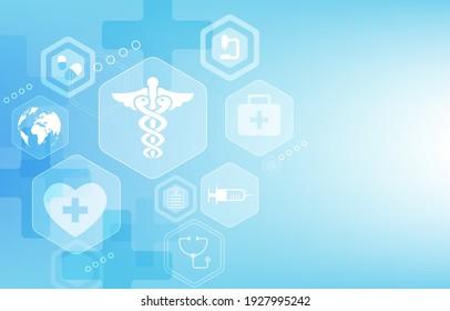 vector medical hexagon geometric shape.medical icon set vector design.medical wallpaper.