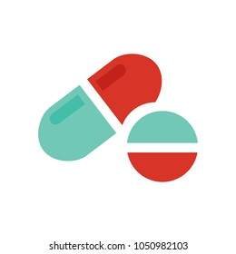vector medical pills - medicine icon, capsule and drug - healthcare icon