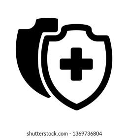 vector Medical Shield Icon shield flat health cross medical vector