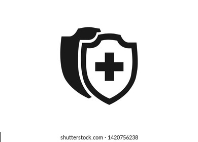 Vector Medical Shield Icon shield flat health cross medical simple element illustration can be used for mobile and web