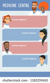 vector medicine brochure cards . lab template of flyear, magazine, poster, book cover, banner. Science people with medic concept background. illustration scientist modern woman