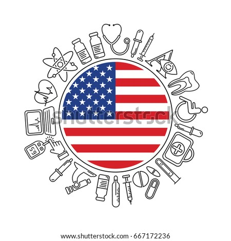 Vector Medicine Health United States America Stock Vector Royalty