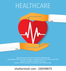 Vector medicine and healthcare background. Eps 10.