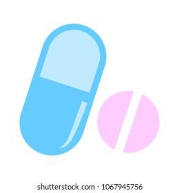 vector medicine illustration - Medical pill icon. Drugs sign, pharmacy symbol