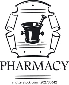 Vector Medieval Style Pharmacy Sign