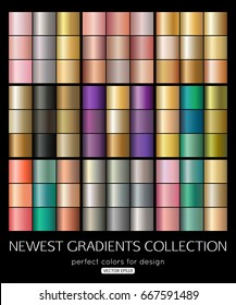 Vector mega collection of gradient texture. Soft color background design.