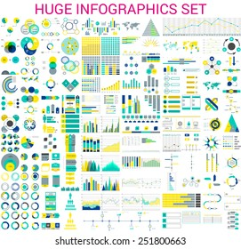 Vector mega set of  infographic elements