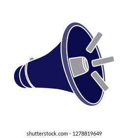 vector megaphone icon-loud sign-sound symbol-audio vector-volume sign-noise symbol-loudspeaker isolated-announcement symbol