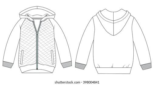 b2744a85cc Vector. Men s hooded sweat-shirt with zipper