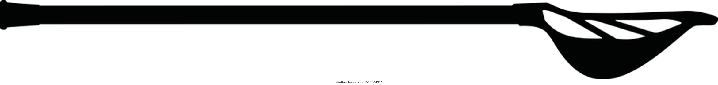 Vector of a men's lacrosse stick. This includes the complete lacrosse stick (lacrosse head and lacrosse shaft).