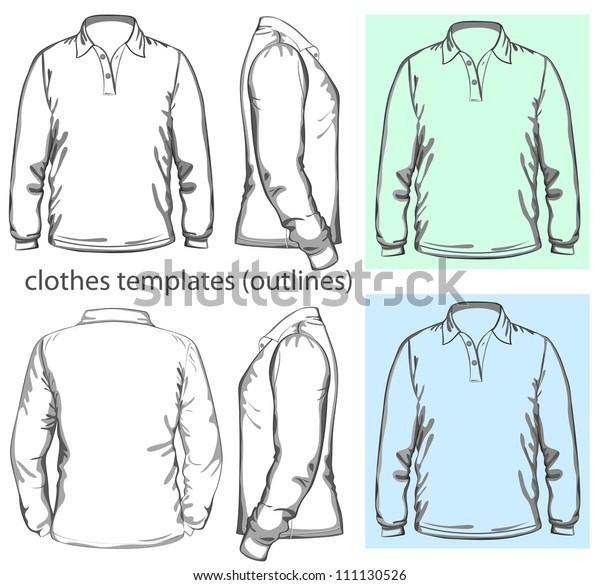 181b74420800a Vector Mens Poloshirt Design Template Front Stock Vector (Royalty ...