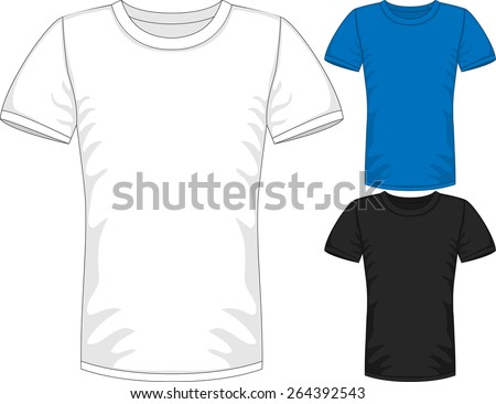 c97dfcfc Vector Mens short sleeve t-shirt design templates in three colors - Vector