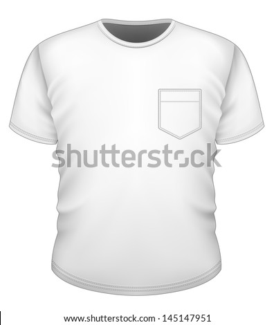 Vector Mens Tshirt Design Template Front Stock Vector (Royalty Free ...