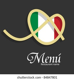 Vector menu pattern for italian restaurant