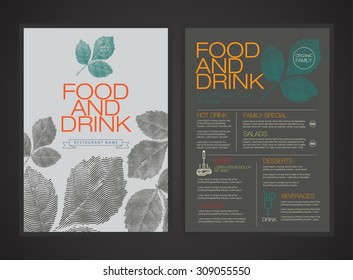 vector menu template. magazine brochure flyer book cover.