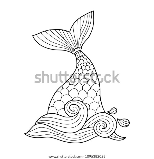 Mermaid Tail Clipart At Getdrawings: 31 Mermaid Tails Coloring Pages