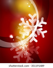 Vector Merry Christmas abstract background, snowflakes in the air. Color background for your message