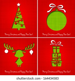 Vector Merry Christmas greeting card.