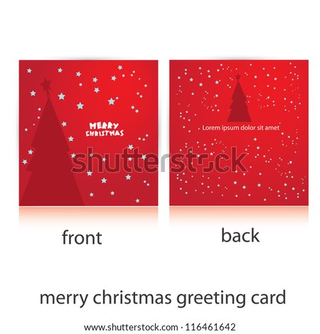 vector merry christmas greeting card template stock vector royalty