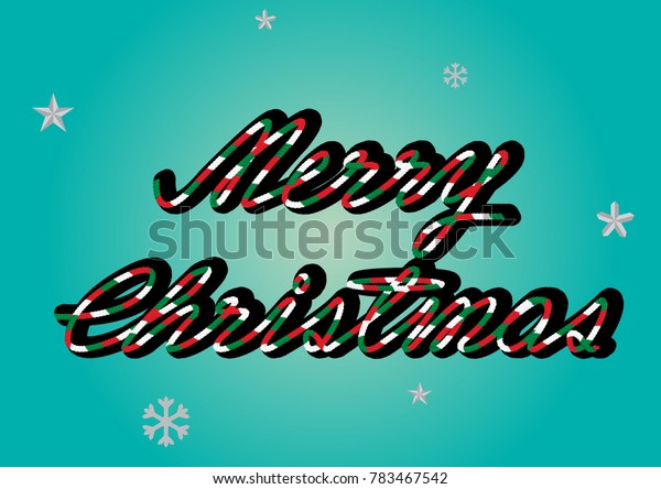 Vector Merry Christmas rope design