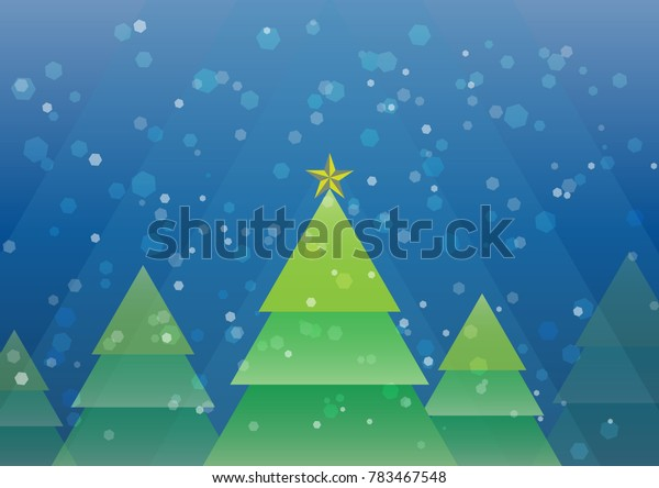 Vector Merry Christmas snowing background