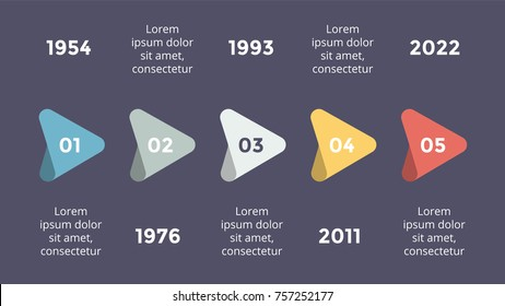 Vector metaball triangles timeline infographic, diagram chart, graph presentation. Business progress concept with options, parts, steps, processes. Dark slide 16x9.
