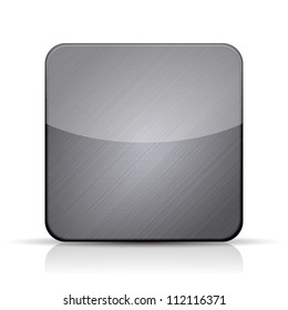 Vector metal app icon on white background. Eps10