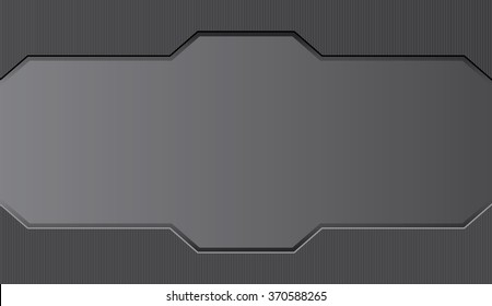 Vector metal background. Card.