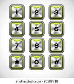 Vector Metal keypad