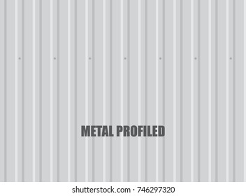 Vector metal profiled