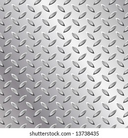 Vector Metal Tread Plate Background