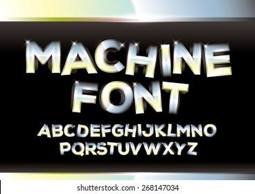 Vector of metallic alphabets