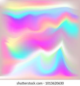 Vector Metallic Holographic Background. Neon shining background.