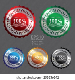 Vector : Metallic  Premium Quality  100% Guarantee Badge, Icon, Sticker, Banner, Tag, Sign or Label